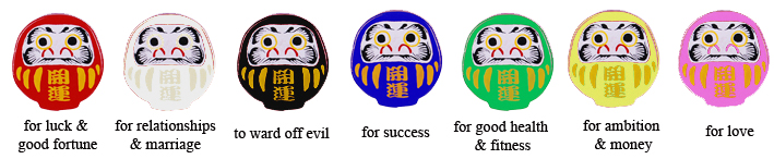 Daruma Colour meanings