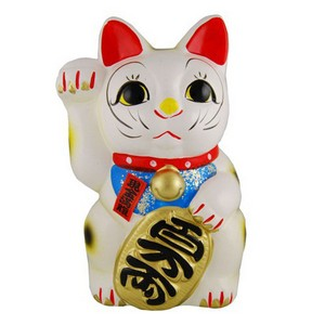 Big Japanese Fortune cat (Manekineko) - Right