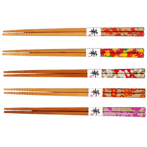 Japanese Chopsticks set of 5 - Blossom Design