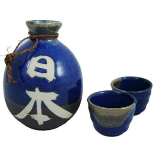 Blue Japanese Sake Set - Nihon