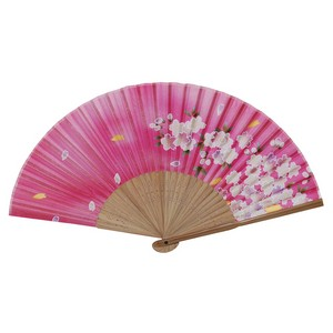 Cherry Blossom Japanese Folding Fan - Pink