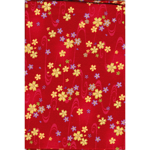 Japanese Furoshiki - Small Flowers - red