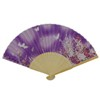 Butterfly Japanese Folding Fan - purple-1