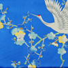 Crane and plum blossom scarf - blue-3