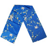 Crane and plum blossom scarf - blue-1