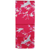 Crane and plum blossom scarf - red-2