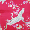 Crane and plum blossom scarf - red-3