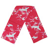 Crane and plum blossom scarf - red-1