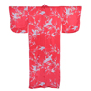Crane And Plum Silk Kimono Red-2