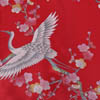 Crane And Plum Silk Kimono Red-3