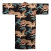 Dragon and Eagle Japanese Kimono Black-1