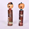 Fishing Farming Kokeshi Couple-2