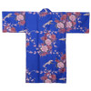 Flying Crane Wrapper (Kimono Dressing Gown) - Blue-2
