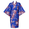 Flying Crane Wrapper (Kimono Dressing Gown) - Blue-1
