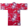 Flying Crane and Peony Kimono Wrapper, Red-2