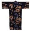 Fuji and Rising Dragon Kimono, Black-1