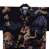 Fuji and Rising Dragon Kimono, Black-3