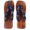 Geta sandals - blue (varied pattern)-3
