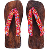 Geta sandals - red (varied pattern)-3