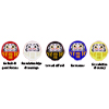 Goshiki Mini Daruma (red,blue,yellow,white,black)-3