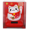 Happiness Solar Chubby Lucky Cat - Red-2