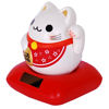 Happiness Solar Chubby Lucky Cat - Red-3