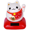Happiness Solar Chubby Lucky Cat - Red-1