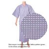 Lined Gauze Yukata - Nemaki Lattice 5-2