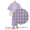 Lined Gauze Yukata Nemaki Lattice A-2