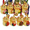 Lucky cat charm with origami patch-2