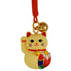 Lucky cat charm with origami patch-1