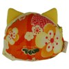 Lucky cat face purse - cream-2
