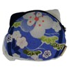 Lucky cat face purse - white/blue-2
