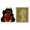 Lucky Cat Pin Badge - black-2