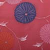 Obi - pink with chrysanthemum design - used-3