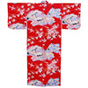 Dynasty in Cherry Blossoms Polyester Kimono, Red-2