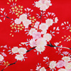 Dynasty in Cherry Blossoms Polyester Kimono, Red-4