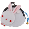 Rabbit purse - white/blue-1
