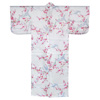 Crane and Plum Silk Kimono, Cream-2