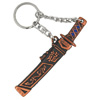 Sword Key Ring - bronze with blue-2