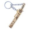 Sword Key Ring - gold with black-2