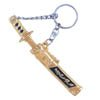 Sword Key Ring - gold with black-1
