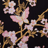 Butterfly and Cherry Blossoms Yukata, Black-3