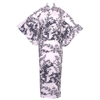 Chrysanthemum and Plum Yukata, White-1