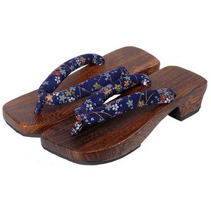 Geta sandals - blue (varied pattern)
