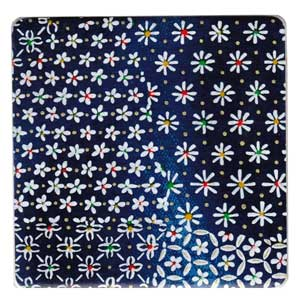 Blue Flowers Coaster x 1