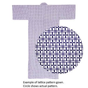 Lined Gauze Yukata - Nemaki Lattice 10