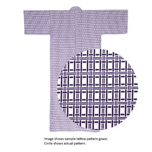 Lined Gauze Yukata Nemaki Lattice A