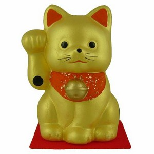 Japanese Lucky Cat - gold
