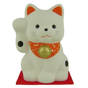 Japanese Lucky Cat - white